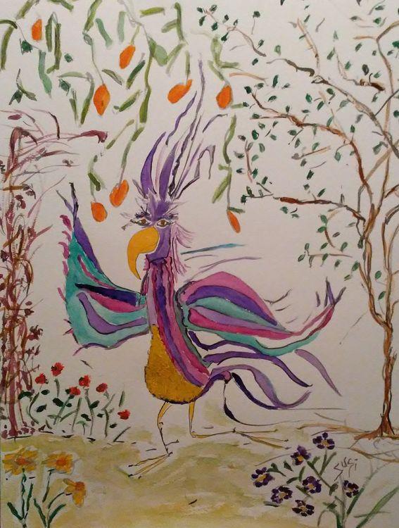 Wordbird by Susan Royer - search and link Fine Art with ARTdefs.com