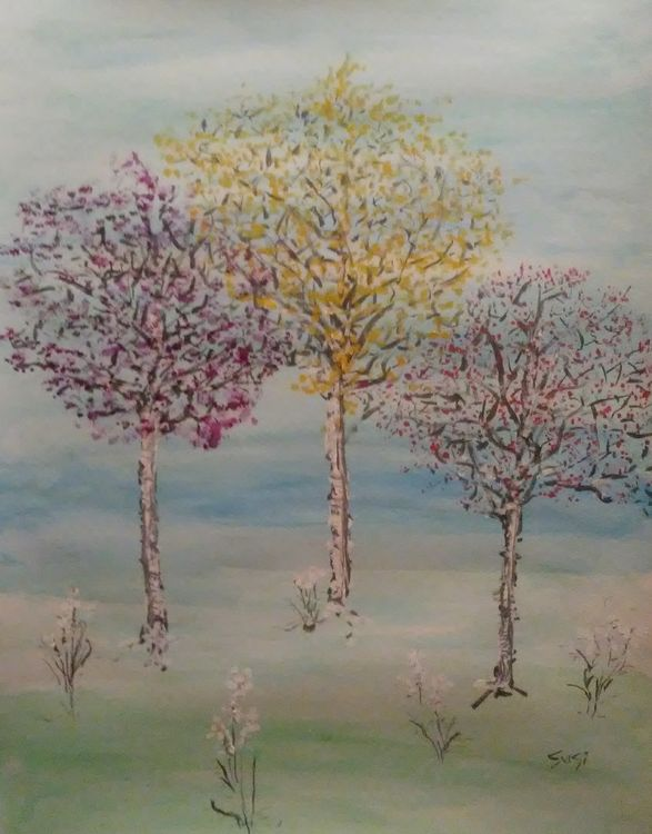 Spring Tree Three by Susan Royer - search and link Fine Art with ARTdefs.com