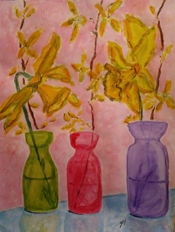 Yellow Harbingers by Susan Royer - search and link Fine Art with ARTdefs.com