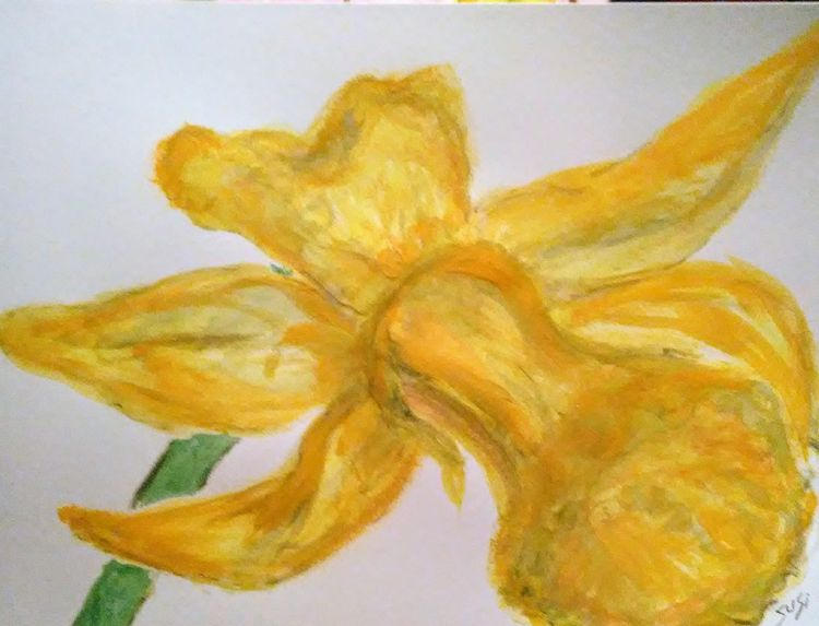Big Ole Daffodil by Susan Royer - search and link Fine Art with ARTdefs.com