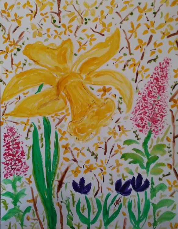 A Spring Fling Thing by Susan Royer - search and link Fine Art with ARTdefs.com