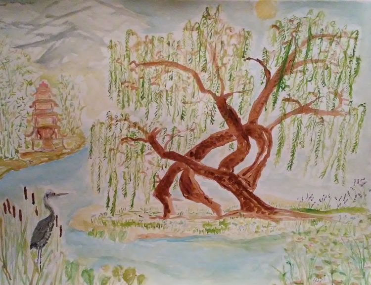 Wild Willow by Susan Royer - search and link Fine Art with ARTdefs.com