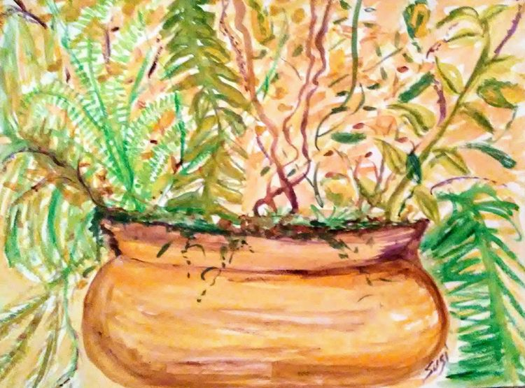 Prolific Planter by Susan Royer - search and link Fine Art with ARTdefs.com