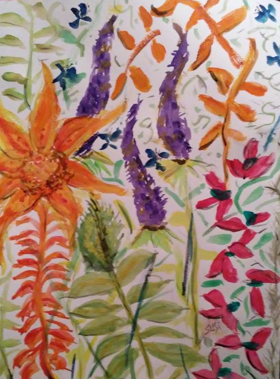 Bloomboompop by Susan Royer - search and link Fine Art with ARTdefs.com