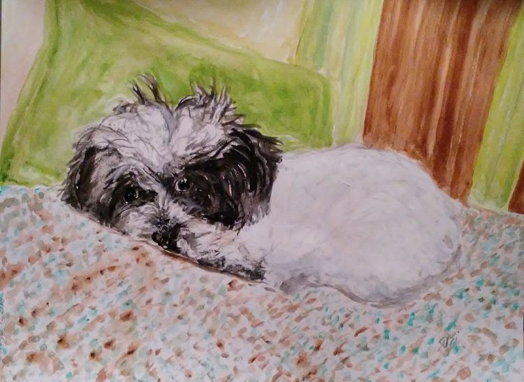 Bella Mon Chiot Precieux by Susan Royer - search and link Fine Art with ARTdefs.com