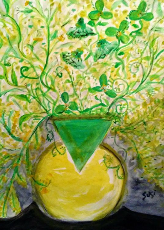Batwing Vase by Susan Royer - search and link Fine Art with ARTdefs.com