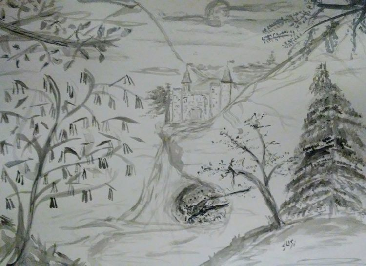 Dragonkeep Castle by Susan Royer - search and link Fine Art with ARTdefs.com