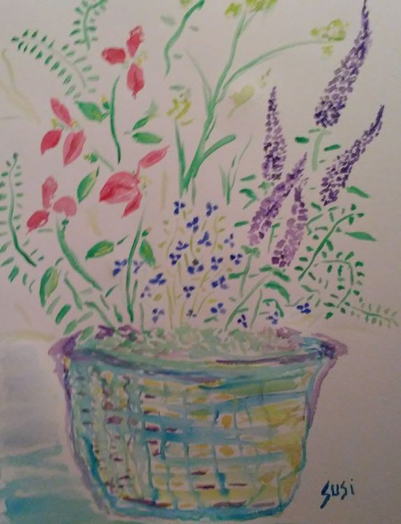 Blooming Basket by Susan Royer - search and link Fine Art with ARTdefs.com