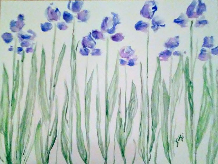 Bluems by Susan Royer - search and link Fine Art with ARTdefs.com