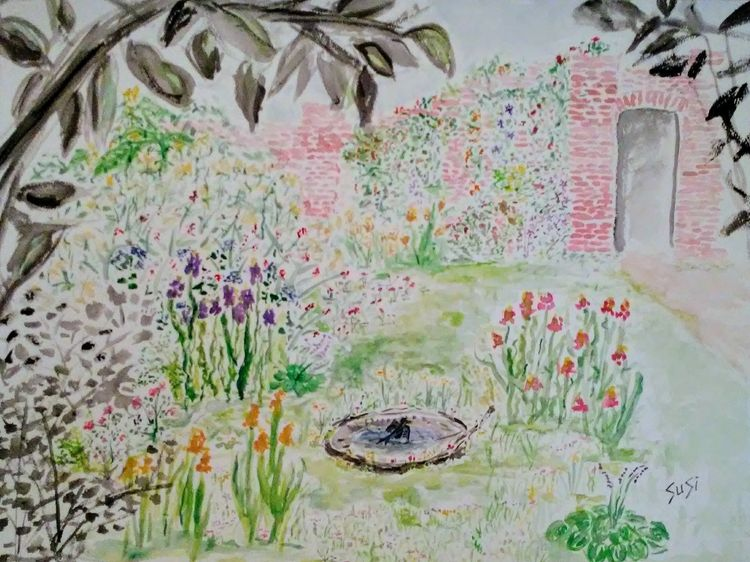 Backyard Garden by Susan Royer - search and link Fine Art with ARTdefs.com