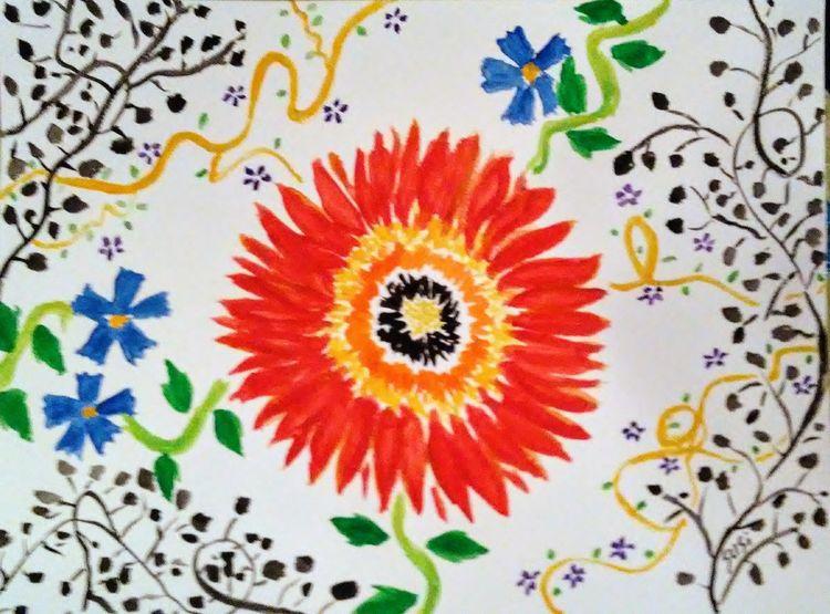 Powerpop Flower by Susan Royer - search and link Fine Art with ARTdefs.com