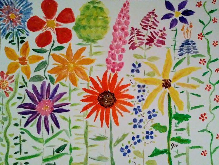 Flower Fiesta by Susan Royer - search and link Fine Art with ARTdefs.com
