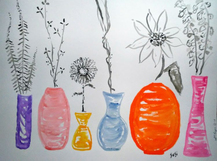 Vase Study by Susan Royer - search and link Fine Art with ARTdefs.com