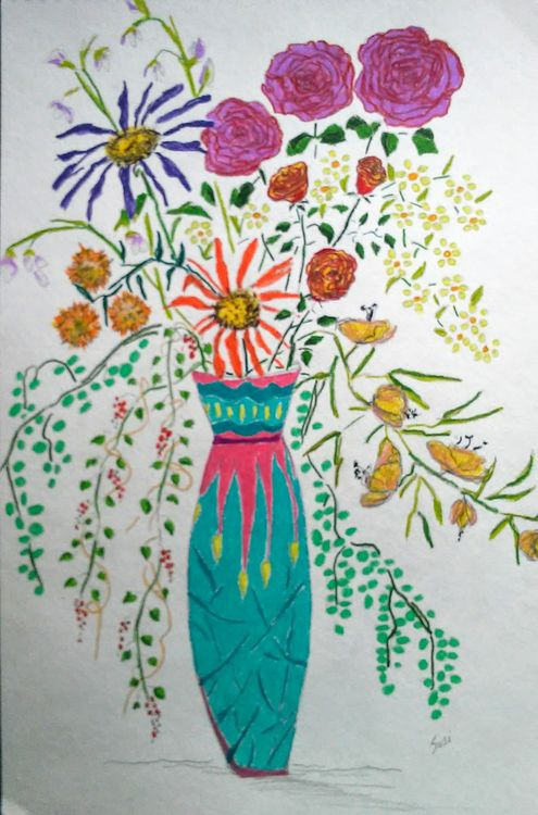 Madmed Vase by Susan Royer - search and link Fine Art with ARTdefs.com