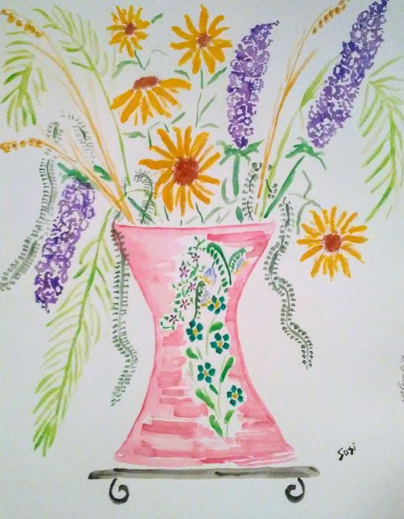 Hourglass Vase by Susan Royer - search and link Fine Art with ARTdefs.com