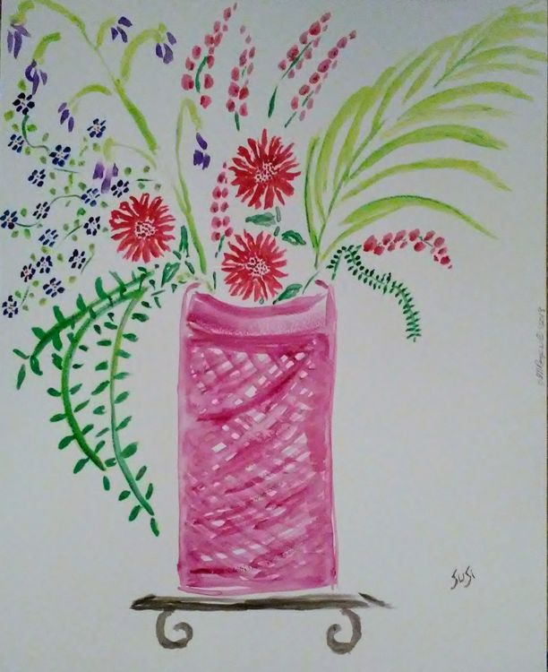 Lattice Vase by Susan Royer - search and link Fine Art with ARTdefs.com