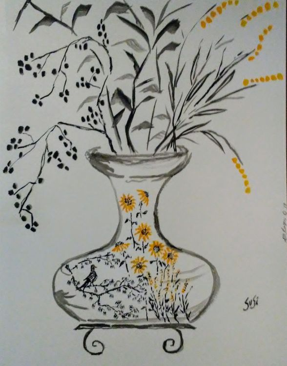 Raven Vase by Susan Royer - search and link Fine Art with ARTdefs.com