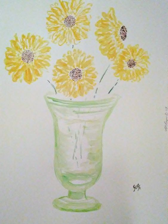 Daisy Vase by Susan Royer - search and link Fine Art with ARTdefs.com