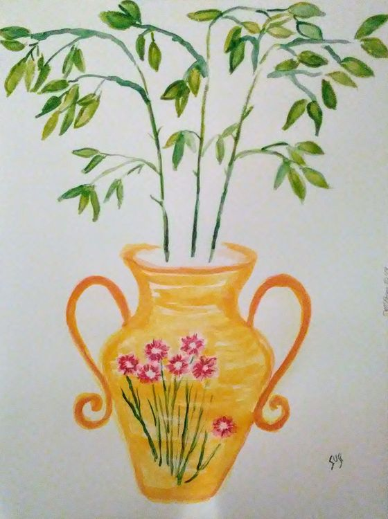 Scroll Armed Vase by Susan Royer - search and link Fine Art with ARTdefs.com