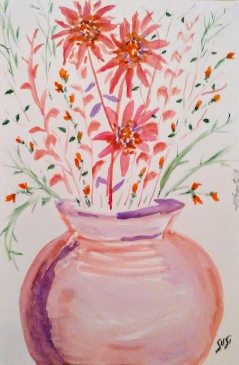 Spraying Vase by Susan Royer - search and link Fine Art with ARTdefs.com