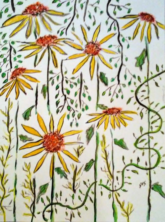 Daisy Chokehold by Susan Royer - search and link Fine Art with ARTdefs.com