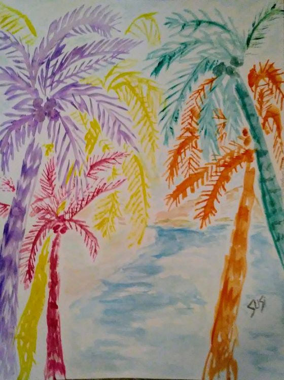 Tropics Treescape by Susan Royer - search and link Fine Art with ARTdefs.com