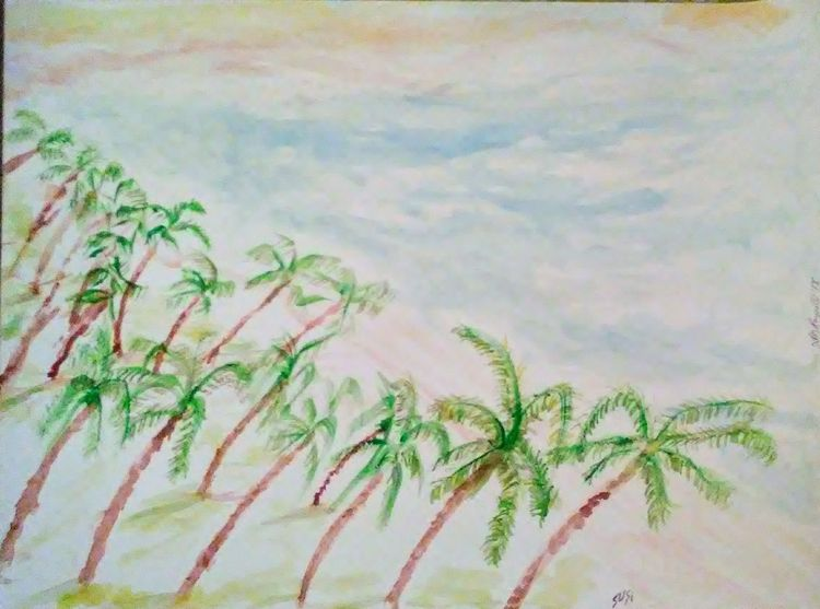 Dominican Palm Grove by Susan Royer - search and link Fine Art with ARTdefs.com