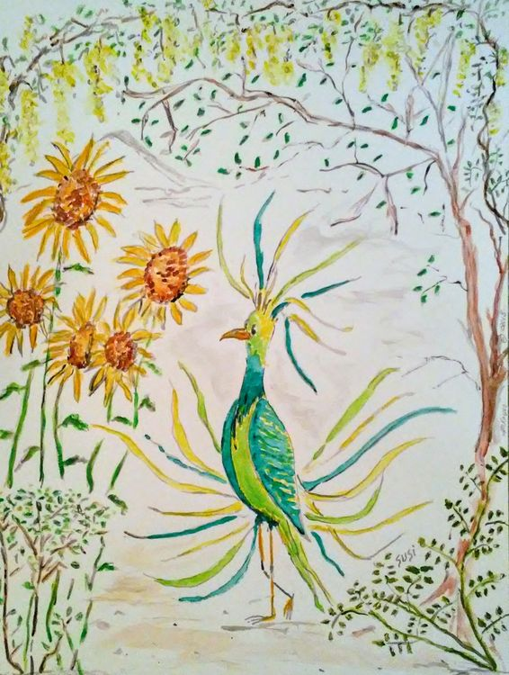 Blessed Bird by Susan Royer - search and link Fine Art with ARTdefs.com