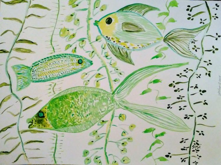 Swimfins by Susan Royer - search and link Fine Art with ARTdefs.com