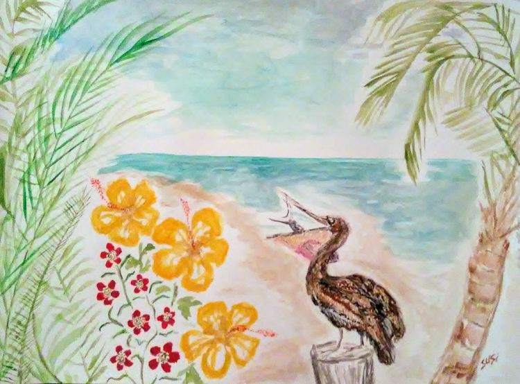 Preyin in Paradise by Susan Royer - search and link Fine Art with ARTdefs.com