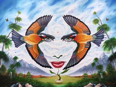 Hypnotic Eclipse by Juan Villegas - search and link Fine Art with ARTdefs.com